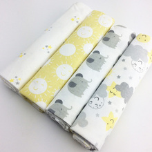 4PCS/PACK 100% Cotton Baby Blankets Newborn Diapers swaddle wrap Flannel Receivi