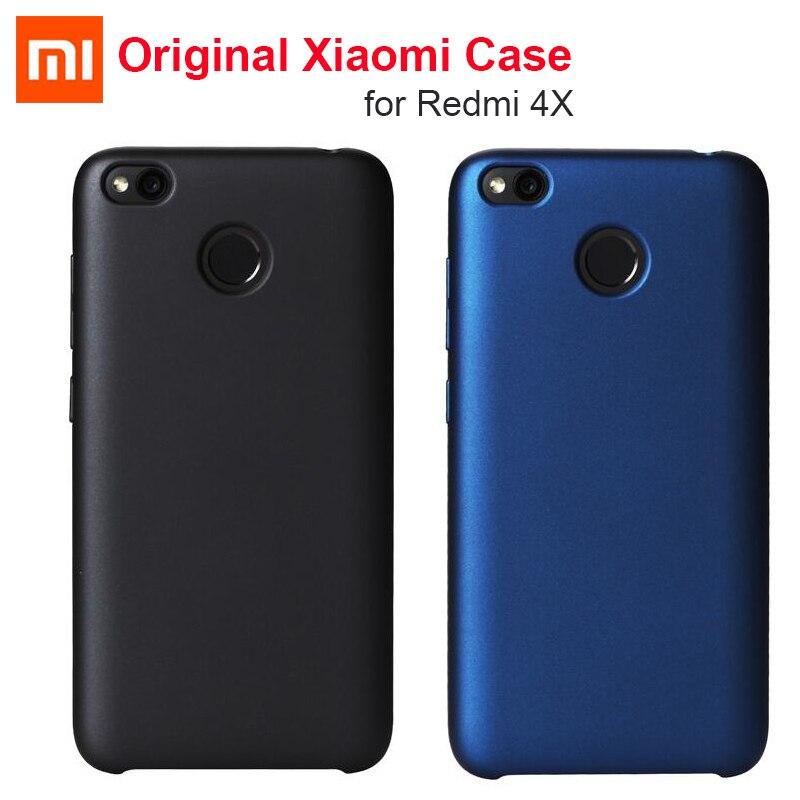 imágenes para 100% Original Xiaomi mi Nota 2 caso Del Tirón de LA PU de cuero de diseño ------- Original Xiaomi Redmi 4X Volver cubierta de la caja dura de la Fibra de Terciopelo PC