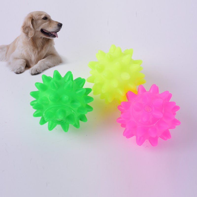 Small Pet Dogs Puppy Play Squeaky Rubber Chew Ball Fun Toys Chew Molar Tools Hot Sale