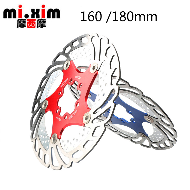 mi.Xim 160 /180mm MTB Bike Radiating Disc Floating Disk Six Hole Brake Disc Six Inch Bicycle Brake Rotors Brake Accessories
