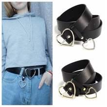 8093fca4153 Or Argent Coeur Ronde boucle de ceinture Pour Les Femmes pantalon jeans  pour les loisirs Sauvage