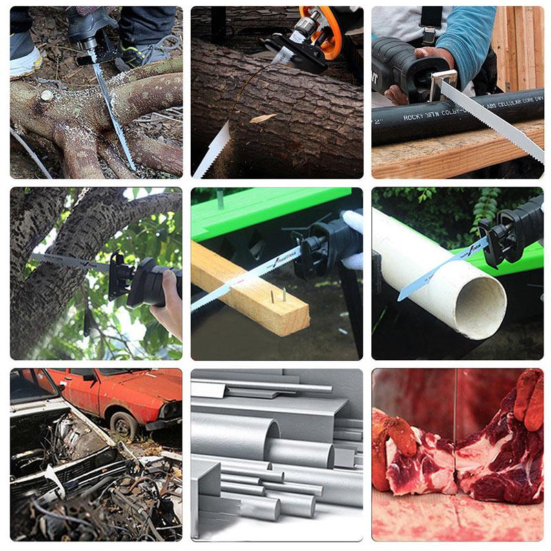 20Pcs HCS Carbon Saber Saw Blades 150 X 19 X 0.9 Mm For Wood PVC TN88