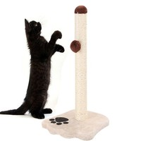 Durable Sisal Cat Scratching Post Harmless Pets With Squeaky Cartoon Animals Good Pet Toys Detach Convenient To Clean Store