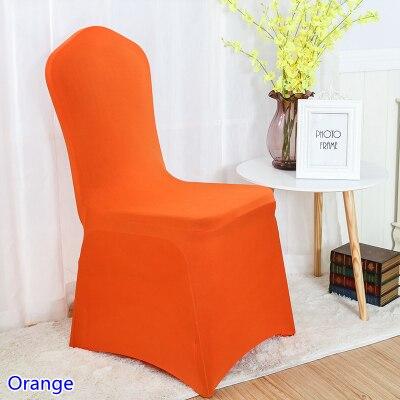 Orange Seat Chair Covers Spandex Lycra Wedding Banquet Anniversary Party Decor