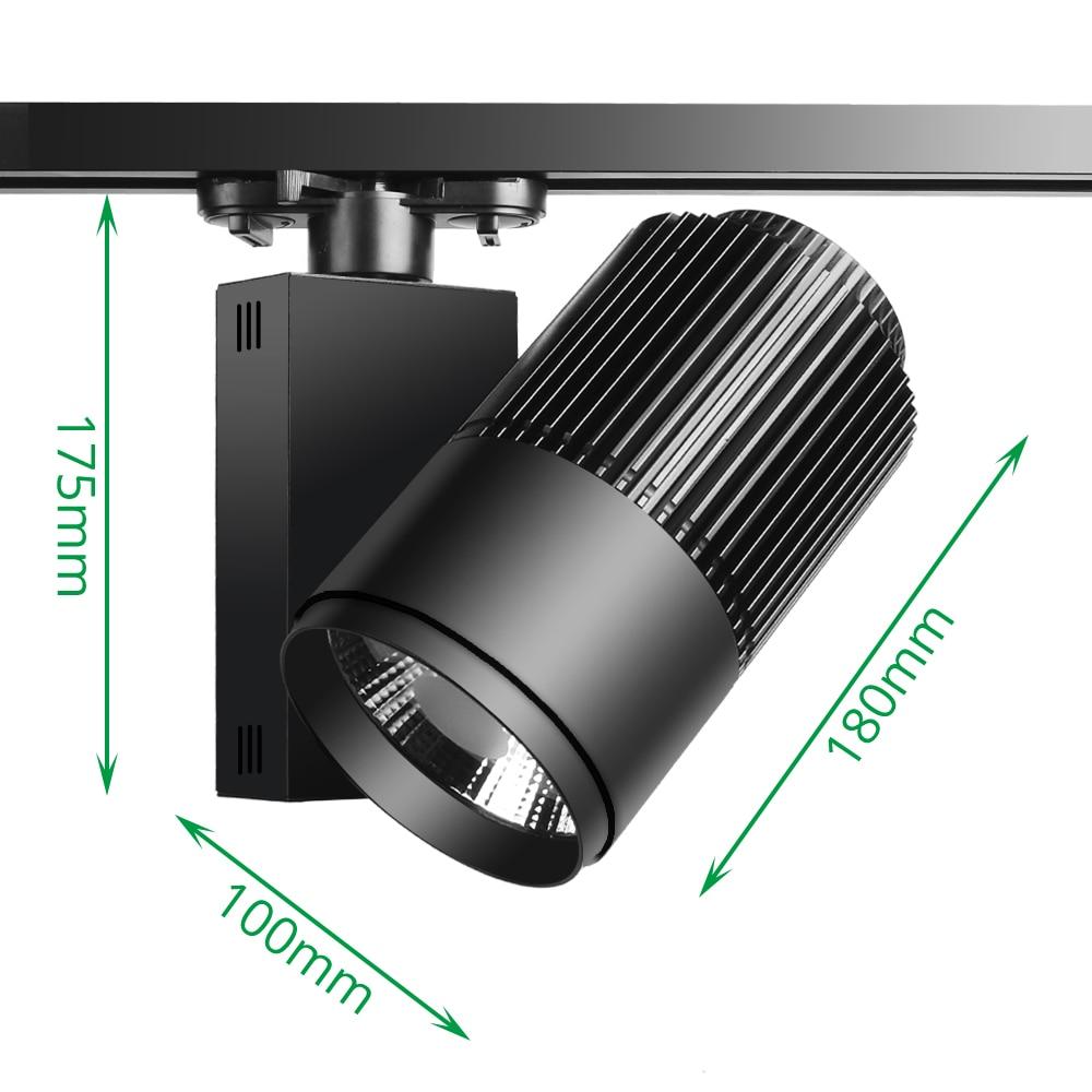 Track Light LED 40W COB Rail Spot Lamp Lamp կոշիկի - Ներքին լուսավորություն - Լուսանկար 5