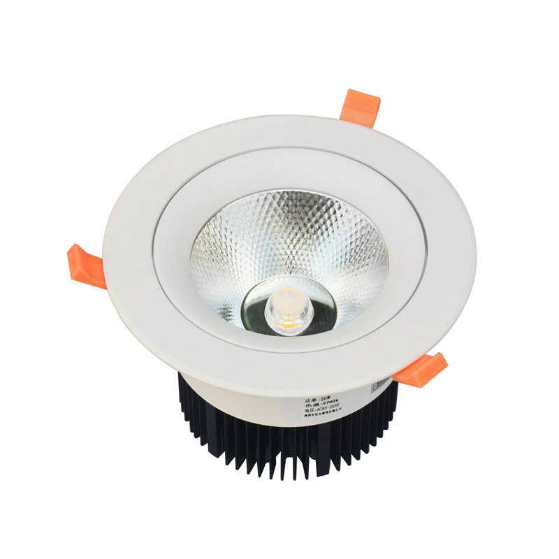 Dimmable LED Downlight 20W 30W AC85-265V very bright LED COB chip canister light embedded ceiling white/warm white free shipping high quality 30w cree cob chip led down light embedded led trunk lamps lighting with led driver ac85 265v