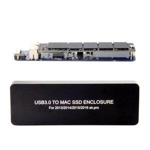 Для Macbook Air Pro 2013 2014 2015 2016 SSD портативный корпус USB 3,0 до 16 + 12 Pin Мобильный Корпус HDD корпус HDD адаптер SSD USB3.0