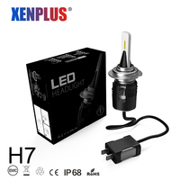 Xenplus H7 LED H4 Headlight Bulb 7200LM 6000K D4 H11 H1 H27 9004 880 9007 5202 Car Headlamps 48W 12V Fog light B6 auto bulb
