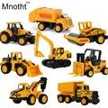 8 tipos de Fundición A Presión de mini Aleación modelo de Vehículo de Construcción de Ingeniería Camión de Volteo Dump-coche Coche Clásico Modelo de Juguete Mini regalo para bebés y Niños