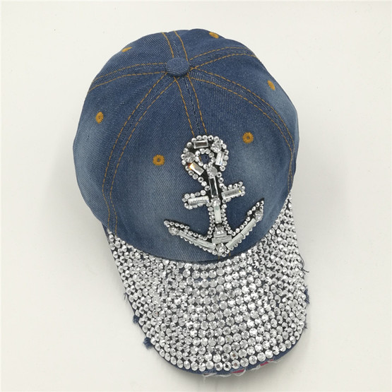 2017D56 cotton red lip anchor blue denim women jeans cloth cross snapback  cotton baseball caps-in Baseball Caps from Apparel Accessories on  Aliexpress.com ... c475bfb44a28