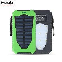 FOOBI Nueva powerbank banco de la energía solar 20000 mah batería externa powerbank cargador solar para todo el teléfono móvil pad Rápido gratis