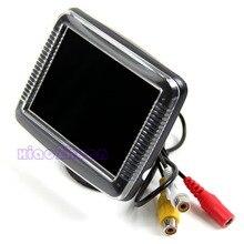 Nueva 3.5 Pulgadas TFT LCD Monitor de Pantalla Inversa Cámara de Visión Trasera de Copia de seguridad