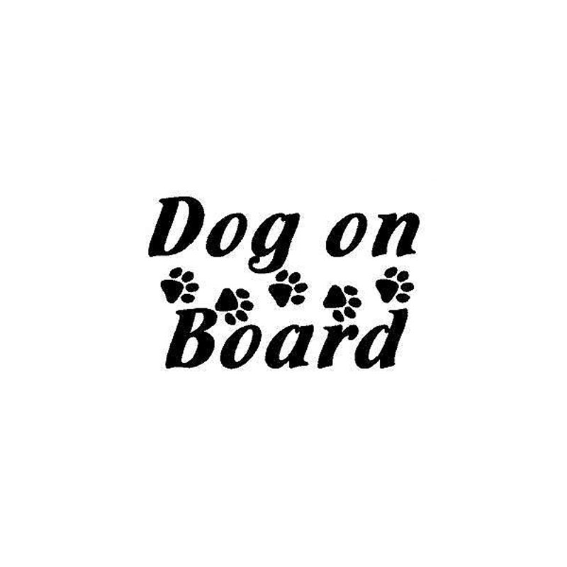 11.5cm*7.5cm Personalized Car Styling Dog Claw Dog On Board To Remind The Car Tail Stickers C5-1189