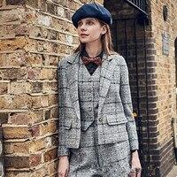 Новый костюм Леди Модные Офисные деловой костюм женские брюки костюм рабочая одежда Женская Пользовательские пальто + Штаны + жилет