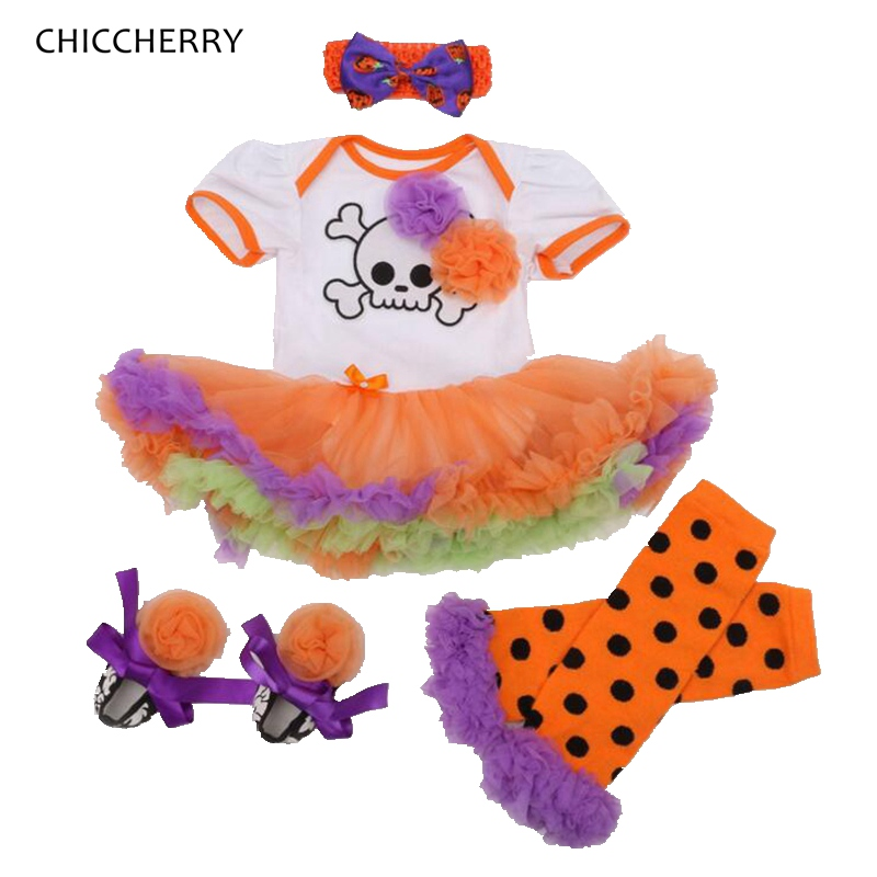 Cool Pirates Baby Halloween Costume For Kids Clothes Toddler Lace Romper Dress Leg Warmers Shoes Headband Girls Clothing Sets