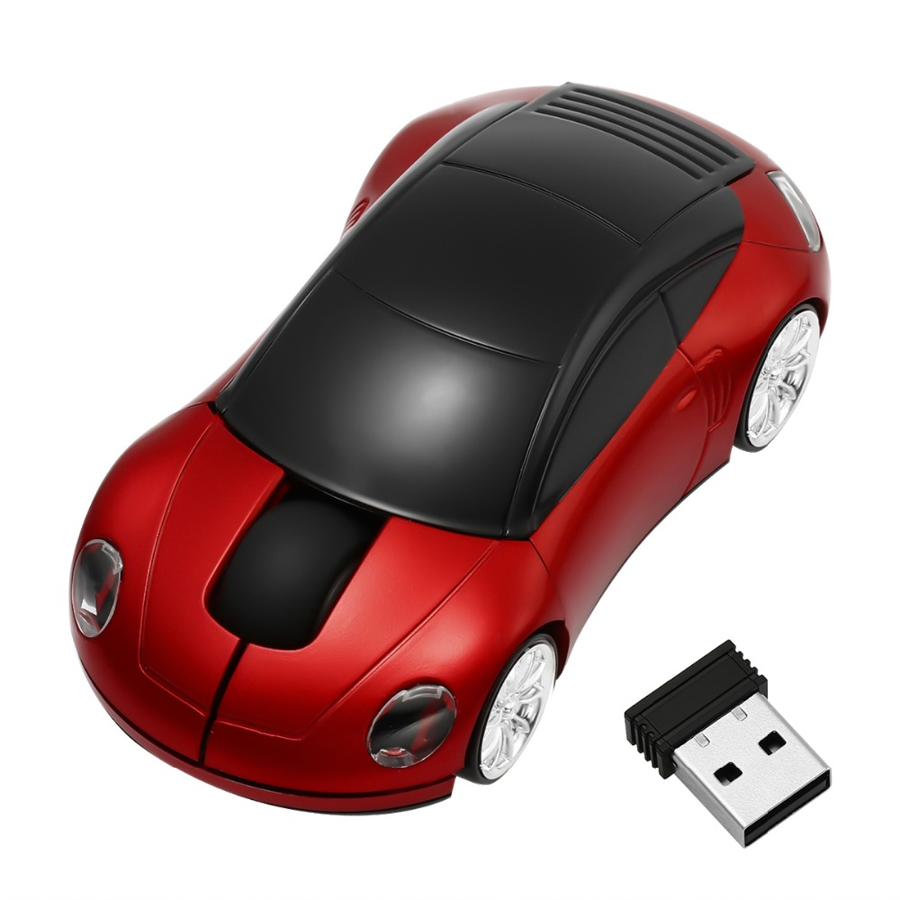 2.4g 1600dpi Wireless 3d Car Mouse Usb Receiver Racing Optical Red Light Led Creative Optical Wireless Mice Car Style Mouse Commodities Are Available Without Restriction