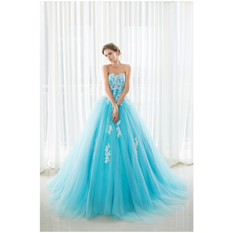Popular Sky Blue Wedding Dresses-Buy Cheap Sky Blue Wedding ...