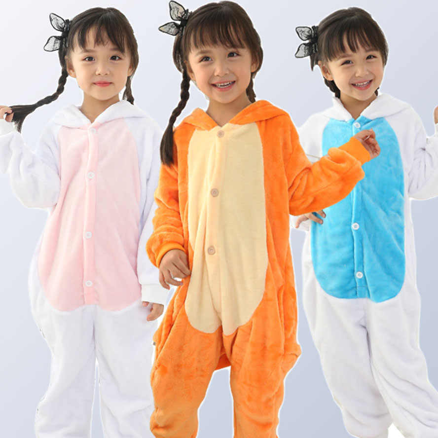 4530c6bdb1 Boy Girl Pajamas Rainbow Panda Children Pajamas Unisex Flannel Stitch Kids  pajama Cartoon Animal Cosplay Onesies