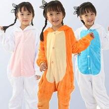 f3db53cdcd0109 Kigurumi jednorożec piżamy dla chłopców dziewczyny Rainbow Panda ściegu  kombinezon dla dzieci piżamy dla dzieci bielizna
