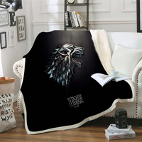 Game Of Thrones Winter Blankets and Throws Warm Flannel Velvet Cotton Printed Travel Blankets