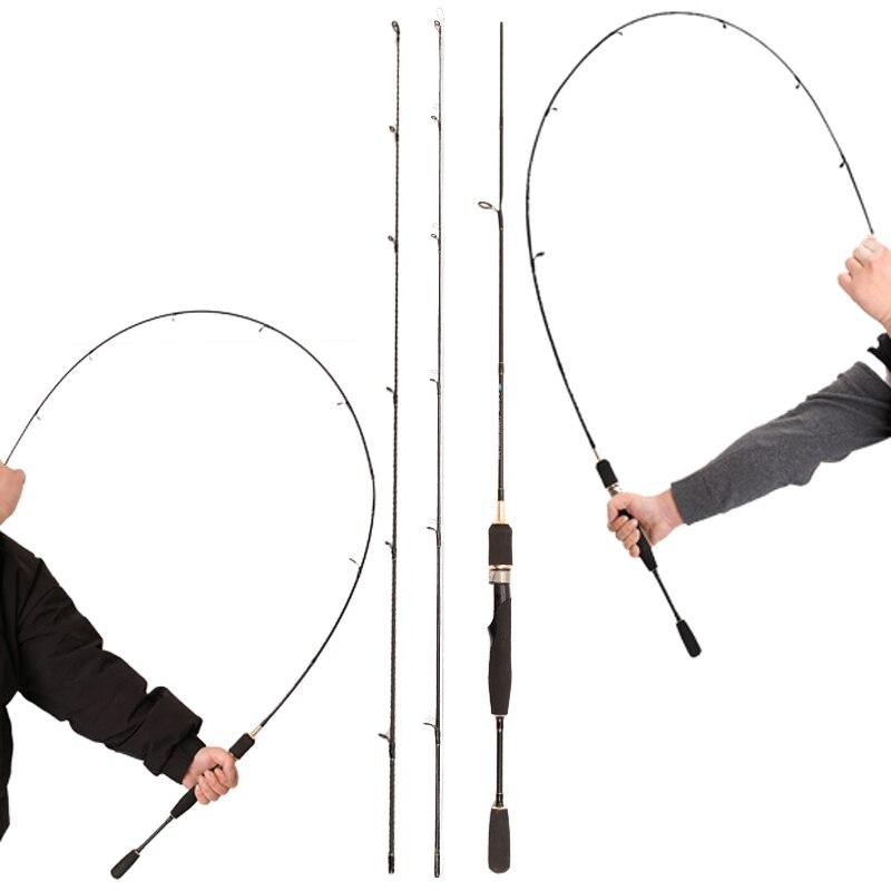 Caña giratoria ul barata 0,8-5g señuelo peso ultraligero spinning varillas línea peso ultra ligero spinning caña de pescar