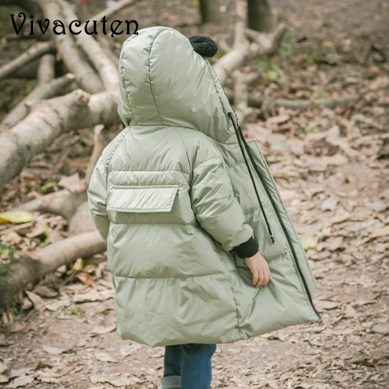2018 Children Jackets Boys Girls Winter Down Coat Baby Winter Coat Kids Warm Outerwear Hooded Coat