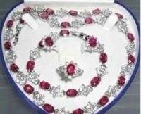 סט מקסים צמיד עגיל טבעת שרשרת קריסטל תכשיטי כסף>> * 18 K מצופה זהב סיטונאי שעון קוורץ אבן CZ