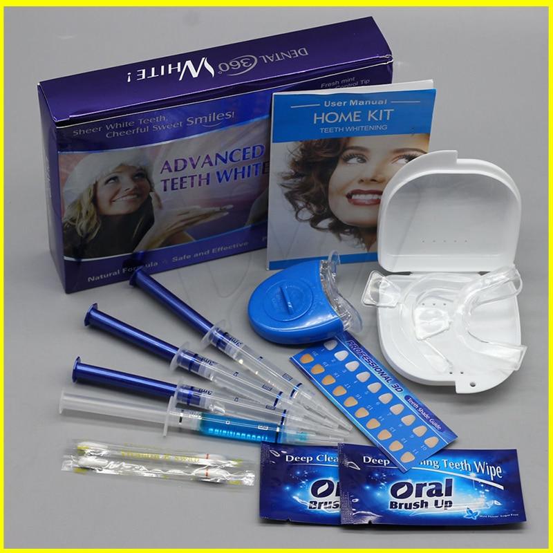 Kit de Blanchiment des dents professionnel 4 Gel 2 bandes 1 LED Blanchiment des dents blanc Dent Dent