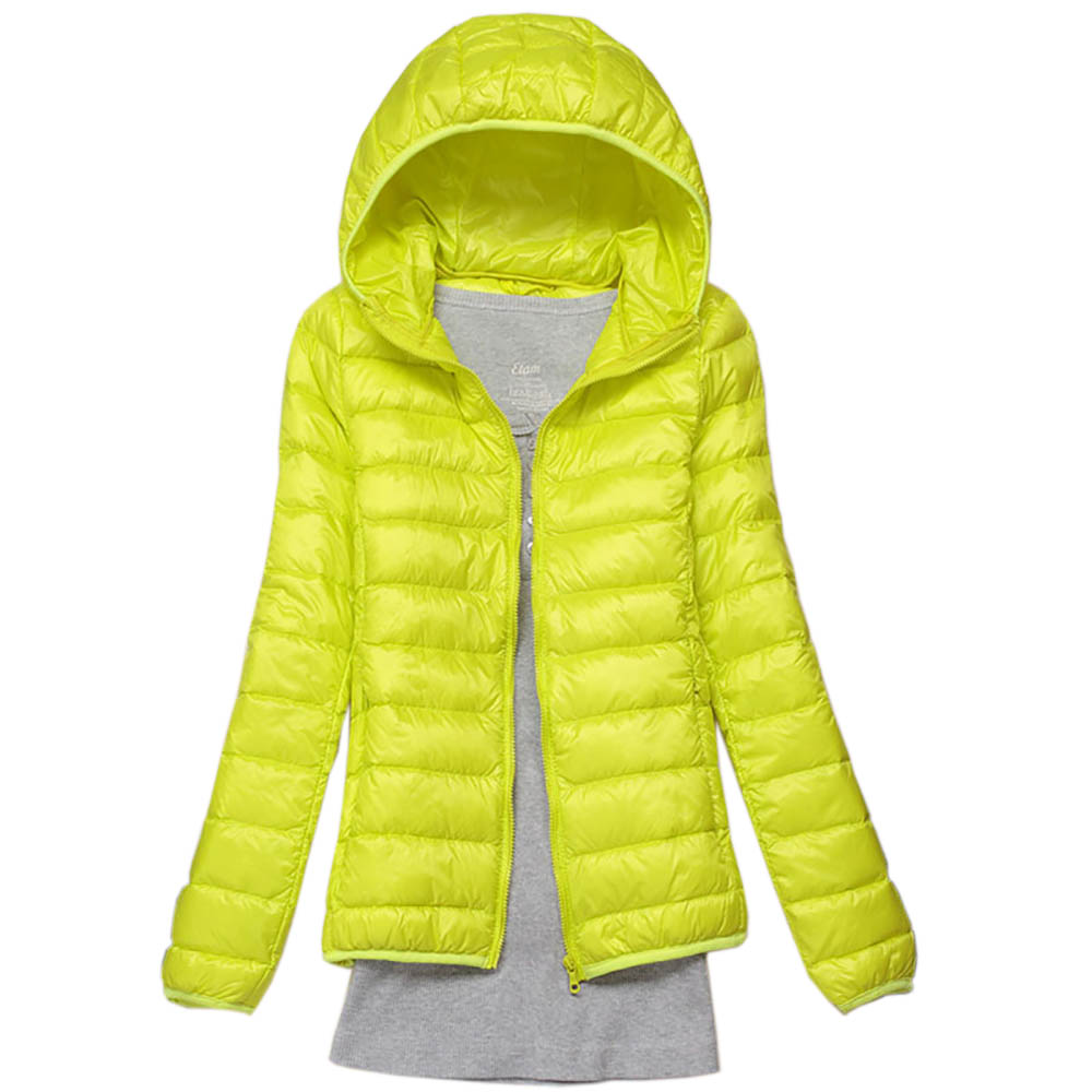 Winter Women Down Jacket Ultra Light Down 90% Hvid Duck Down Coat Jakke Dame Hooded Down Parkas Kvalitet Varemærke Forår Efterår