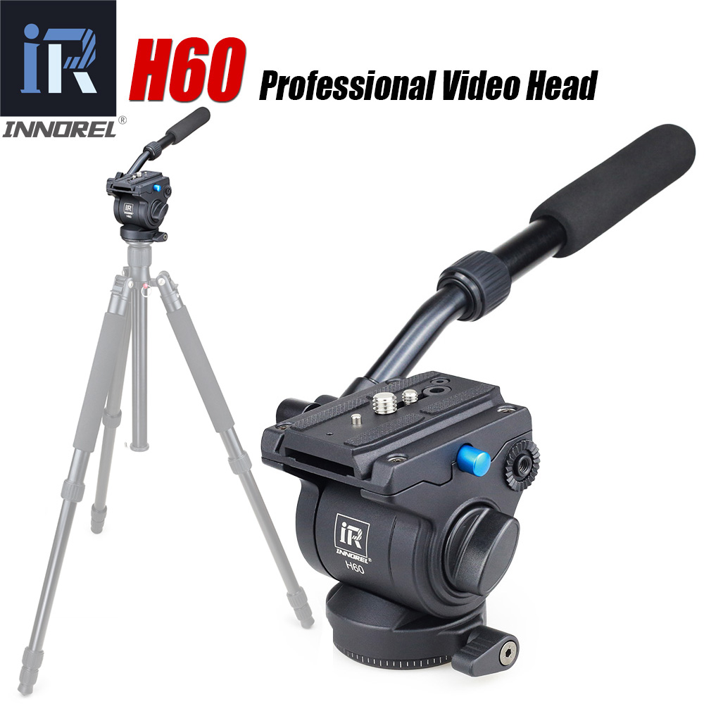 H60 Panoramic tripod head Hydraulic fluid video head for monopod slider Photography Hydraulic Head Three dimensional Tripod Head-in Tripod Heads from Consumer Electronics