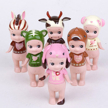 Sonny Angel 6pcs/set Valentine's Day Series Mini  PVC Action Figure Collectible Models Toys 8cm  KT2432