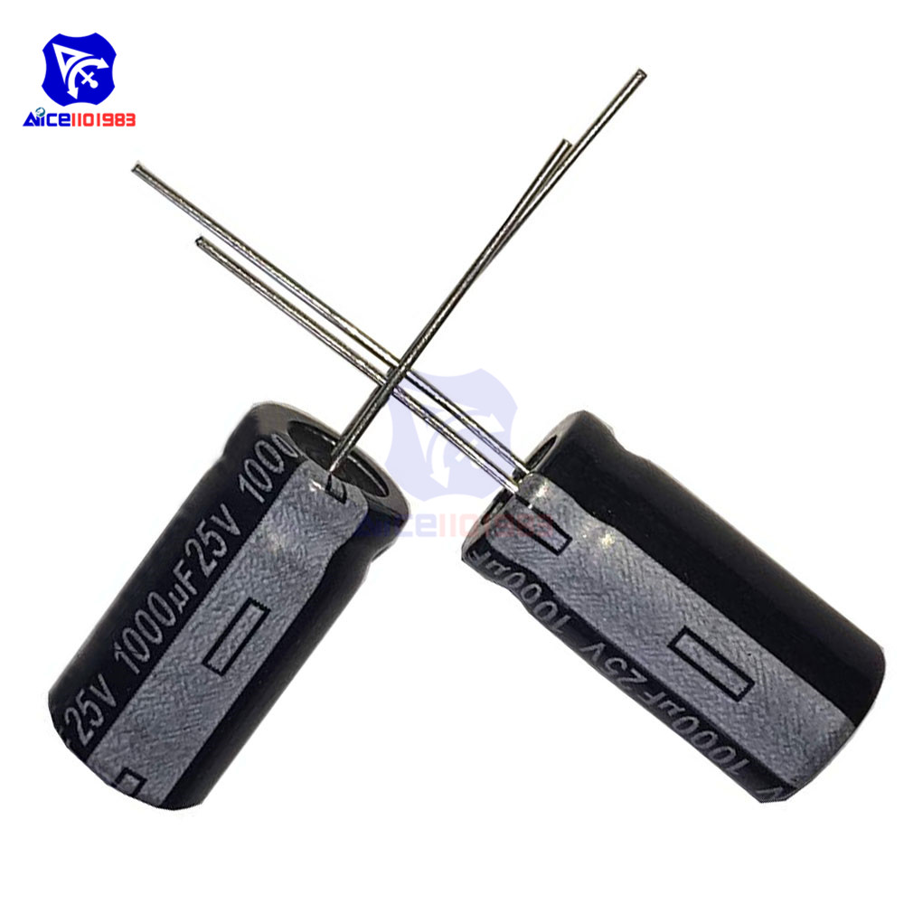 50PCS/Lot Redial Lead Aluminum Electrolytic Capacitor 25V 1000uF Capacitance 11*18mm Low ESR Electrolytic Capacitor