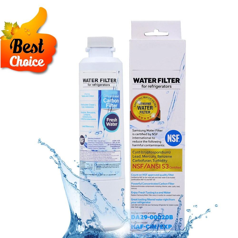 HOT! Aktivkohle Wasserfilter Kühlschrank Wasserfilterpatrone Ersatz für Samsung DA29-00020B HAF-CIN/EXP 1 Stück
