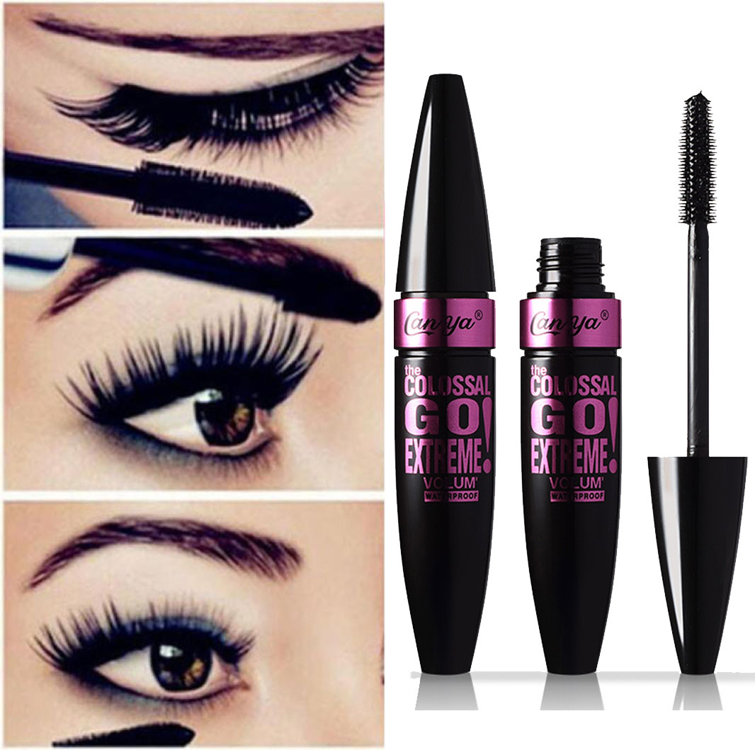 HUAMIANLI  Black Waterproof Makeup Eyelash Long Curling Mascara Eye Lashes Extension(China)