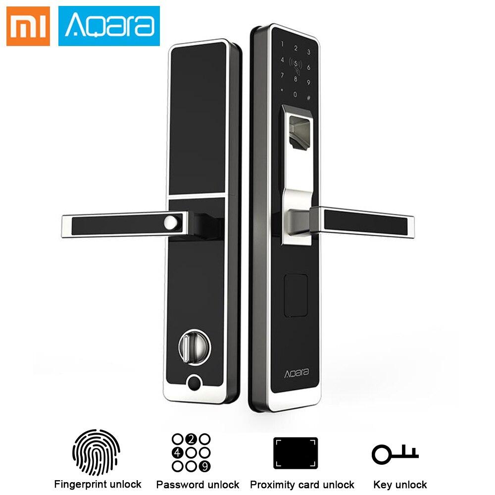 Original Xiaomi Aqara Inteligente Porta Bloqueio de Toque ZigBee Conexão Para Home Security Anti-Peeping Design Suporte IOS Android