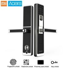 Оригинальный Xiaomi Aqara Smart Двери сенсорный замок ZigBee соединение для охранных anti-выглядывает Дизайн Поддержка IOS Android