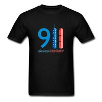Never Forget 9-11 T Shirt Plus Size Short Sleeve Custom T-shirts For Men 2017 New Car Styling O-neck Cotton Tee Shirts Homme