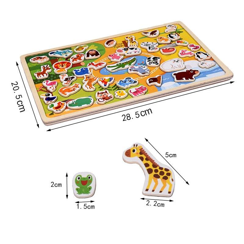 30 cm Baby Spielzeug Montessori holz Puzzle/Hand Greifen Bord Set Pädagogisches Holz Spielzeug Cartoon Fahrzeug/Marine Tier puzzle Kind - 2