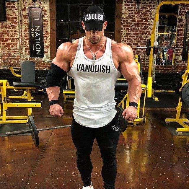 93909f1975fdd Body building VQ Brand Tank Top Men Stringer Tank Top Fitness Singlet  Sleeveless shirt Workout Man