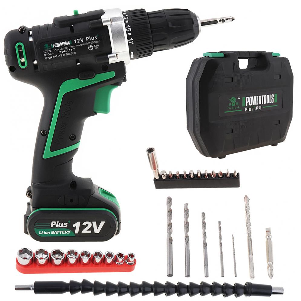 Здесь продается  100 - 240V Cordless 12V Electric Drill / Screwdriver with  Plastic Box And Switch 29pcs  Set for Handling Screws / Punching  Инструменты