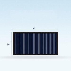 Image 1 - 10 шт. 6836 5 в комплект зарядного устройства для солнечной панели DIY, поликристаллическая фотоэлектрическая панель, устройство для выработки солнечной энергии