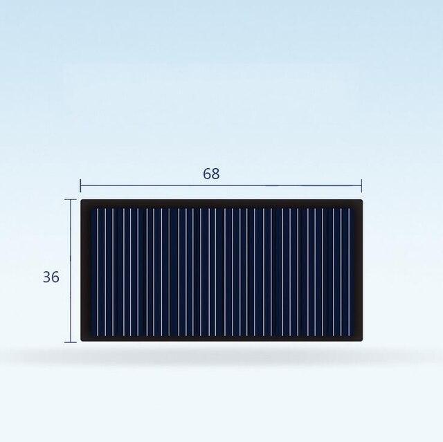 10 шт. 6836 5 в комплект зарядного устройства для солнечной панели DIY, поликристаллическая фотоэлектрическая панель, устройство для выработки солнечной энергии