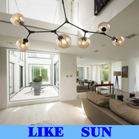 Lindsey Adelman Chandeliers lighting modern lamp novelty pendant lamp natural tree branch suspension Christmas light