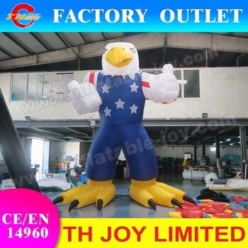 ¡Envío aéreo gratuito a puerta! modelo de dibujos animados inflable gigante de 6 m/20 ft, águila publicitaria para la venta, modelo de aire barato