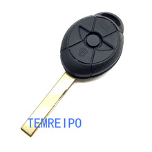 купить No Chip Uncut Blank 3 Buttons Remote Key Case Shell For BMW Mini Cooper S R50 R53 Replacement Key Fob Cover недорого