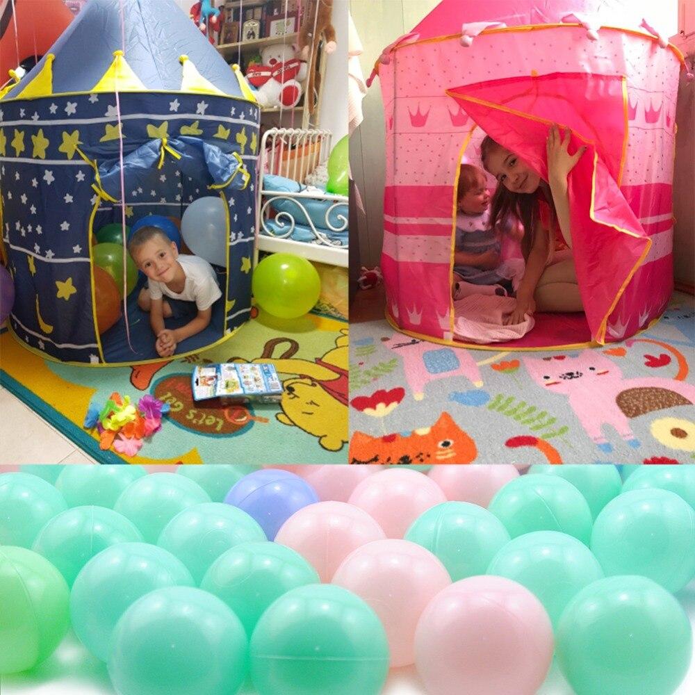 Oyuncak çadır sıcak büyük pembe ve mavi kale oyuncak çadır ev - Kamp ve Yürüyüş - Fotoğraf 6