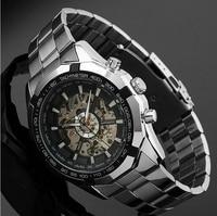 Winner Brand Watch Luxury Style Men Automatic Skeleton Mechanical Wristwatch Fashion Stainless Steel Relogio Masculino LZ2107