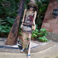 S-XXXL Summer Style Casual Beach Dresses Women Sleeveless Silk Chiffon Long Maxi Dress Summer Beach Sundress Plus Size Dress 4XL