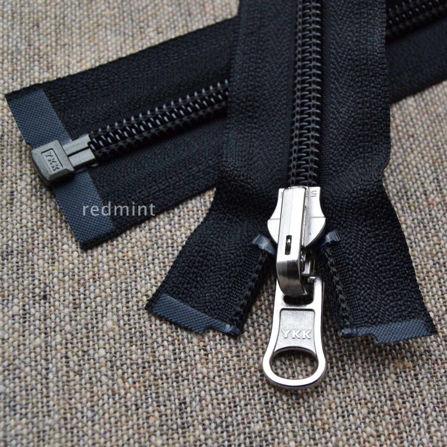 """100 8/"""" Invisible Zippers ~Closed Bottom~ Black ~ YKK"""