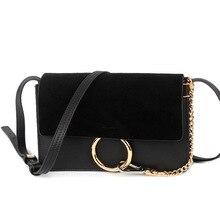 2016 Fashion Women Ladies Handbags Nubuck Leather Cowhide Circle Chain Serpentine Handbag Flap Shoulder Bag Messenger Bags Party
